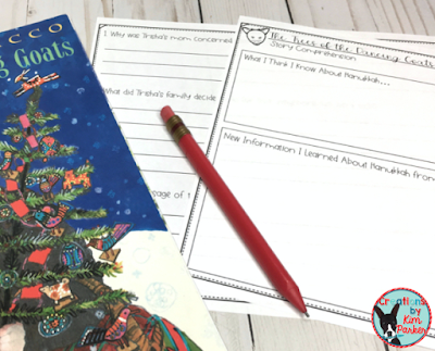 The Trees of the Dancing Goats is a beautiful holiday story- with a Free story comprehension activity.