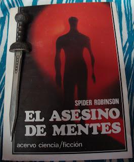 Portada del libro El asesino de mentes, de Spider Robinson