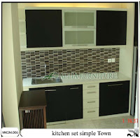 kitchen set minimalis simple town