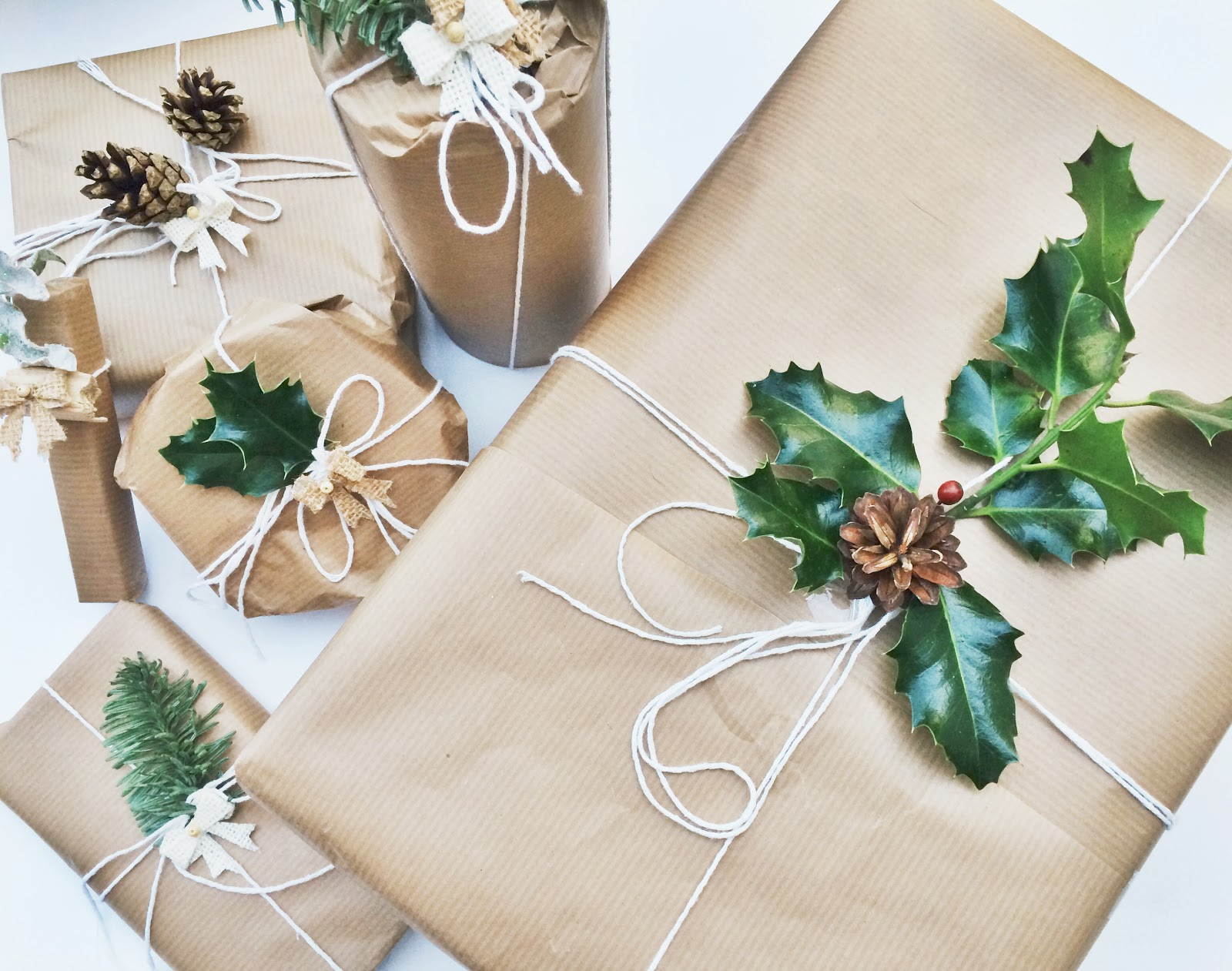 Brown Paper Christmas Wrapping Paper