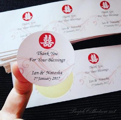 double happiness sticker print kuala lumpur malaysia, selangor, round, glossy, matt, coating, chinese, oriental, wedding, door gift, birthday