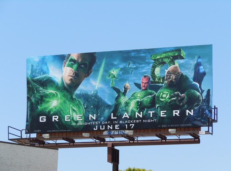 Green Lantern movie billboard