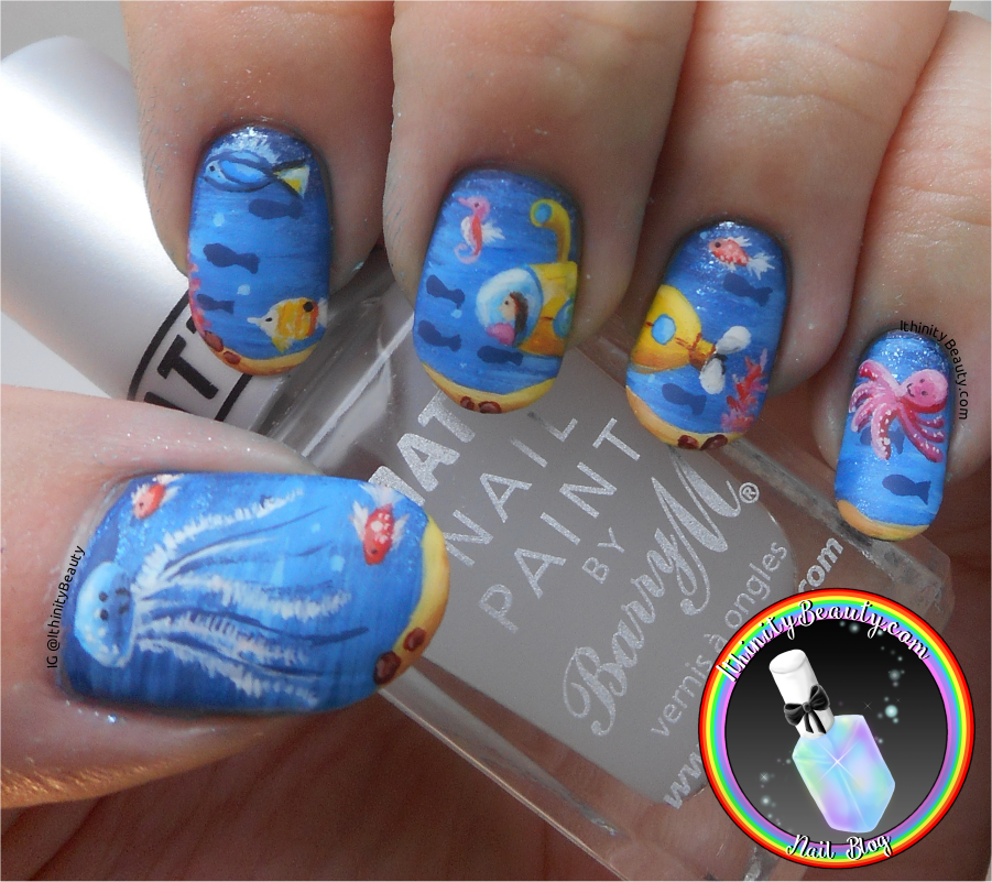 Going to england freehand yellow submarine under the sea nail that octopus really creeps me out prinsesfo Image collections