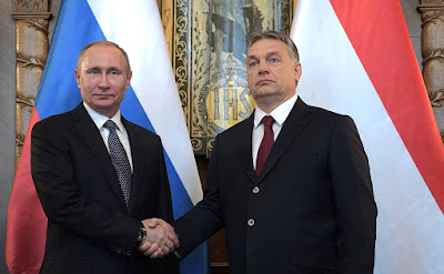 Vladimir Putin with Prime Minister of Hungary Viktor Orban.