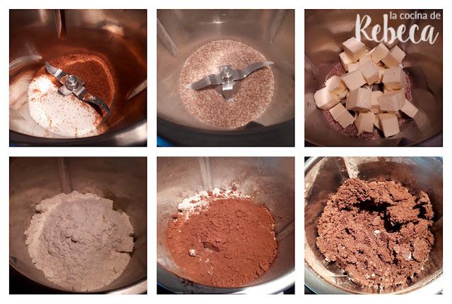 Receta tarta abecedario de chocolate de galleta y crema: la masa