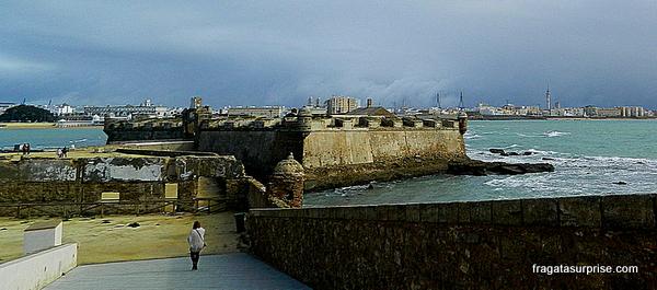 Fortaleza de San Sebastián, em Cádiz