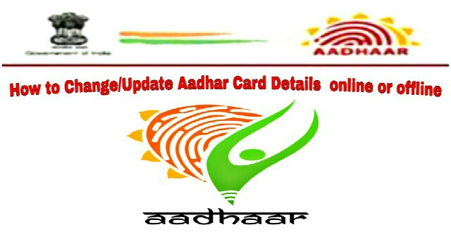 Change Update Aadhar Card Details online