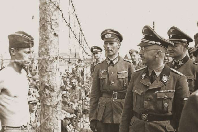 Heinrich Himmler at a POW camp on the Eastern Front, 15 August 1941 worldwartwo.filminspector.com