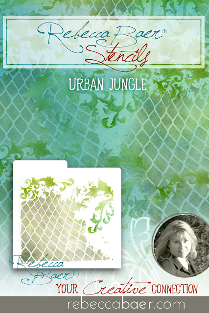 Urban Jungle Stencil | RebeccaBaer.com