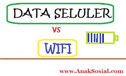 Lebih Hemat Baterai, Data Seluler atau WIFI?