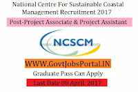 National Centre for Sustainable Coastal Management Recruitment 2017– Project Scientist, Project Associate & Project Assistant