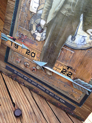 Sara Emily Barker http://sarascloset1.blogspot.com/ No Good Reason tutorial #tim holtz #sizzix3Dtexturefade #foundry #lumber 7