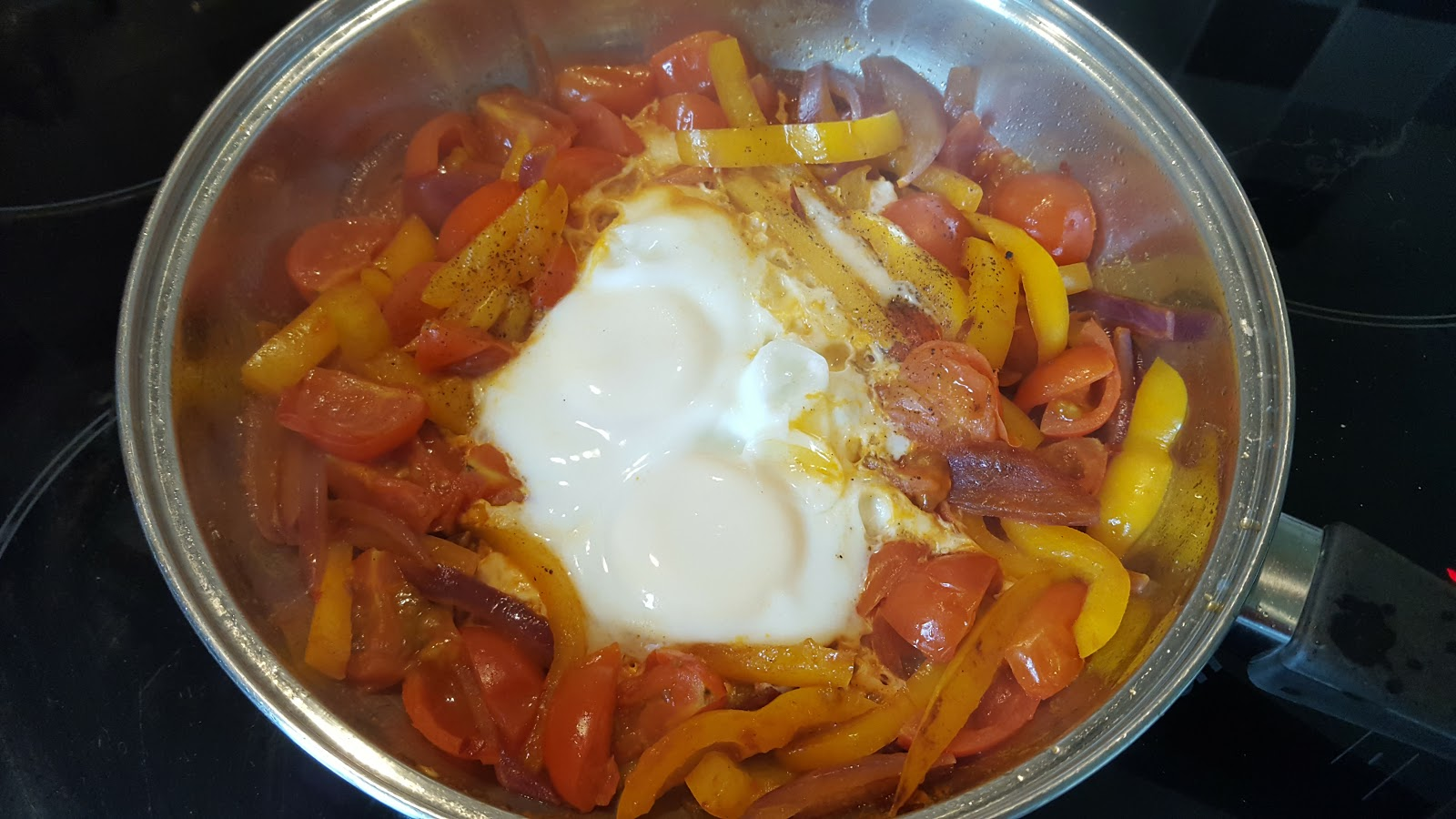 spicy veg and Eggs - candida diet phase one