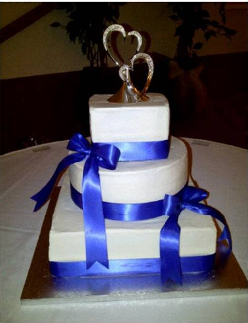 Cakes By Nichole  Royal Blue Wedding Cake Royal Blue Wedding Cake