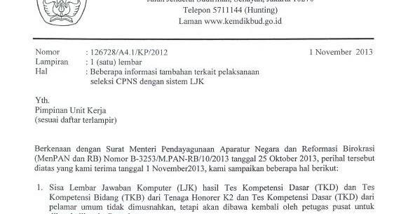 Perubahan Jadwal Tkb Kemdikbud Cpns Bersih