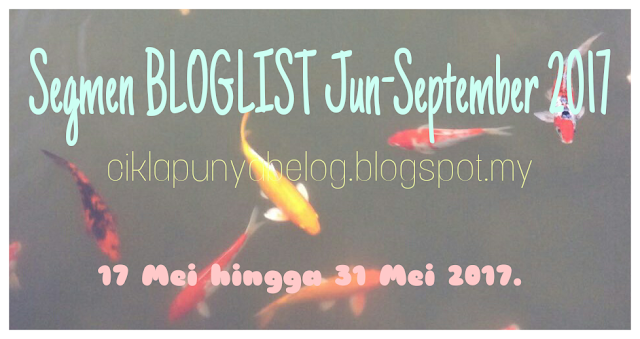 Segmen BLOGLIST Jun-September 2017.