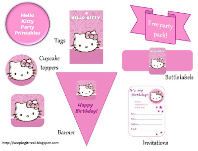 Hello kitty party pack free printables keeping it real that coupled with the fact that the birthday girl in question loves hello kitty who doesnt prompted me to create these printables filmwisefo Image collections