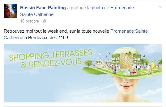 Facebook Bassin Face Painting Bordeaux