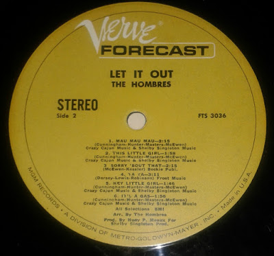 The Hombres lp label