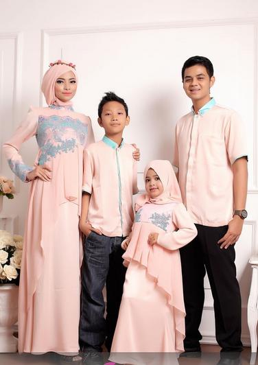 Inspirasi Baju Muslim Keluarga Untuk lebaran 2016