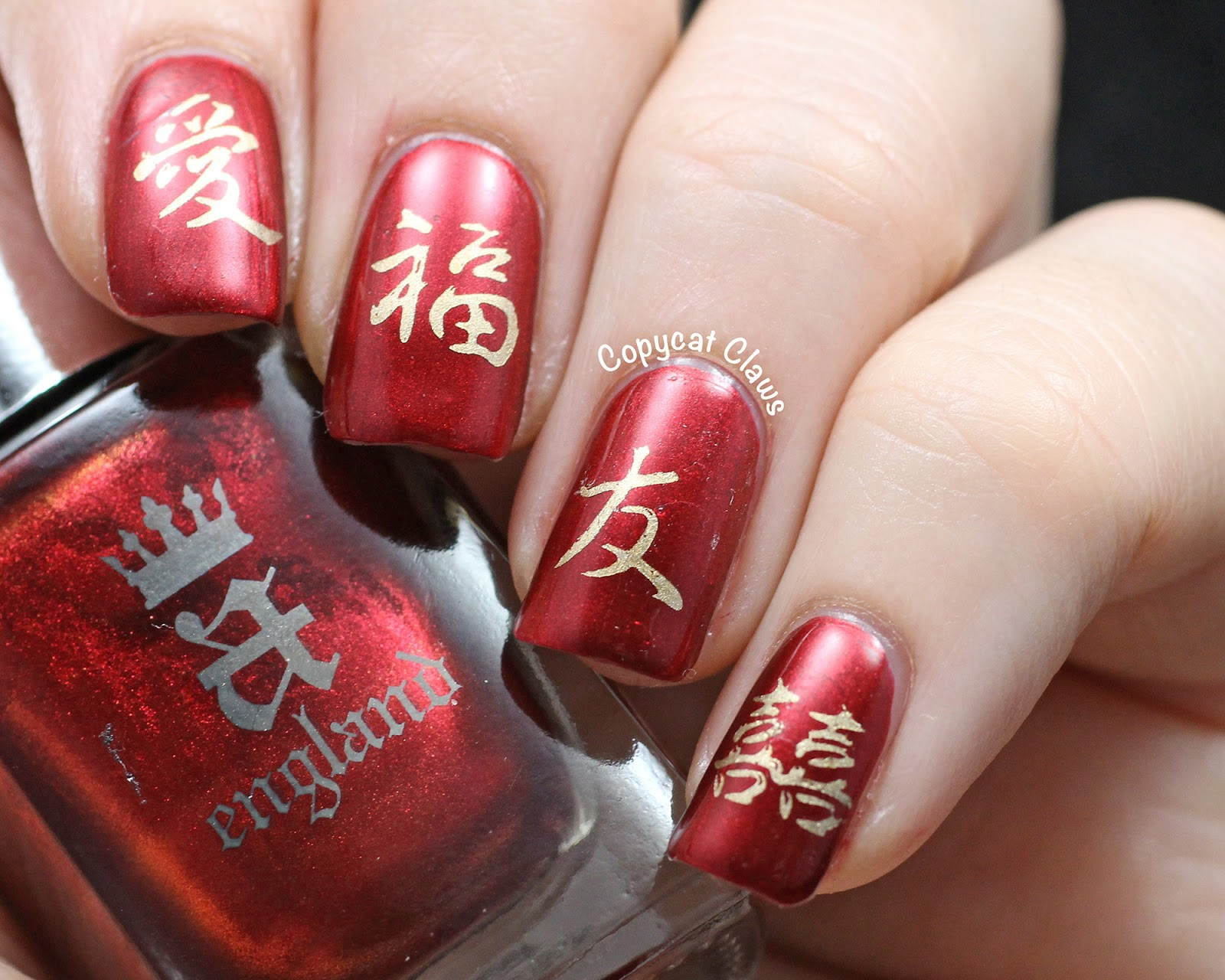 Copycat Claws: Chinese New Year Nail Art aka Sunday Stamping on a ...