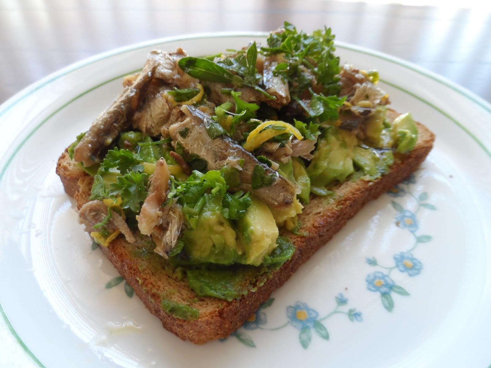 Cook With Zee: Alton Brown's Sardine Avocado Sandwich