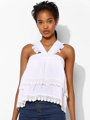 Urban Outfitters Pins and Needles Ruffle Tier Cami Blog