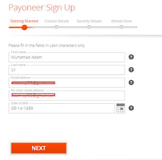 Mendaftarkan Payoneer Mudah Dan Gratis