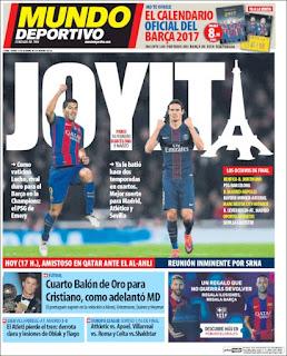 portada Mundo Deportivo balón de oro 2016 Cristiano Ronaldo