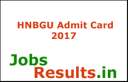 HNBGU Admit Card 2017