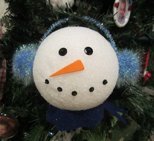 Styrofoam snowman ornaments