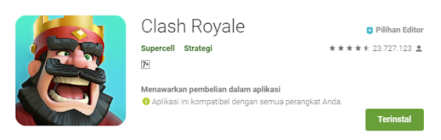 Game Strategi Moba Android Terbaik Clash Royale