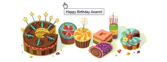 Ucapan Happy Birthday daripada Google