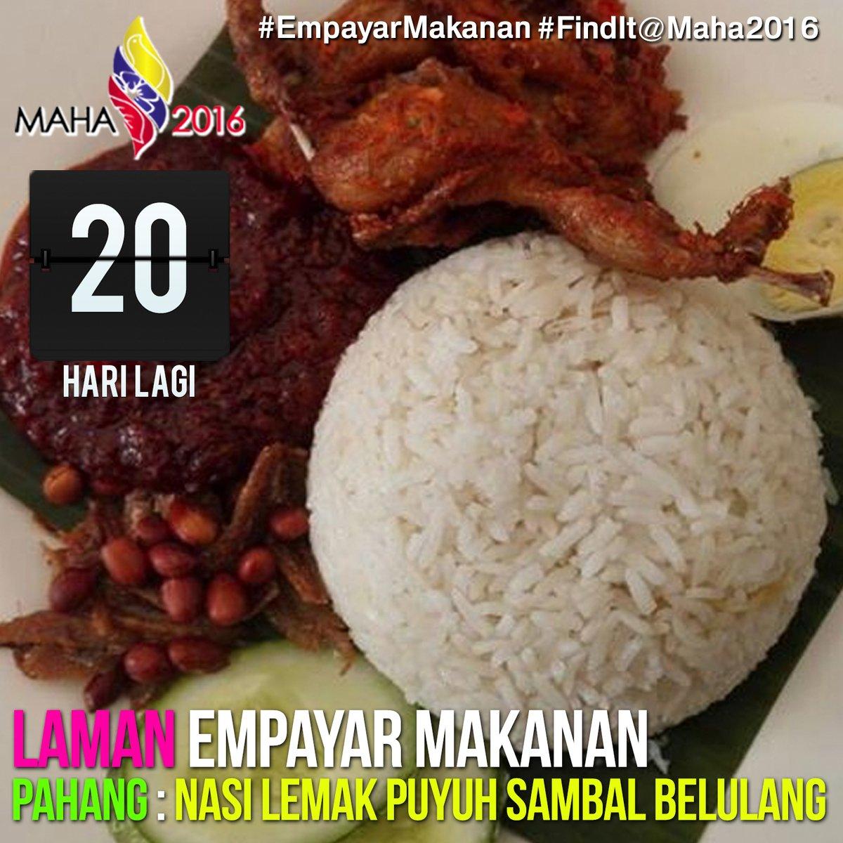 Hidangan Istimewa 14 Negeri di #MAHA2016
