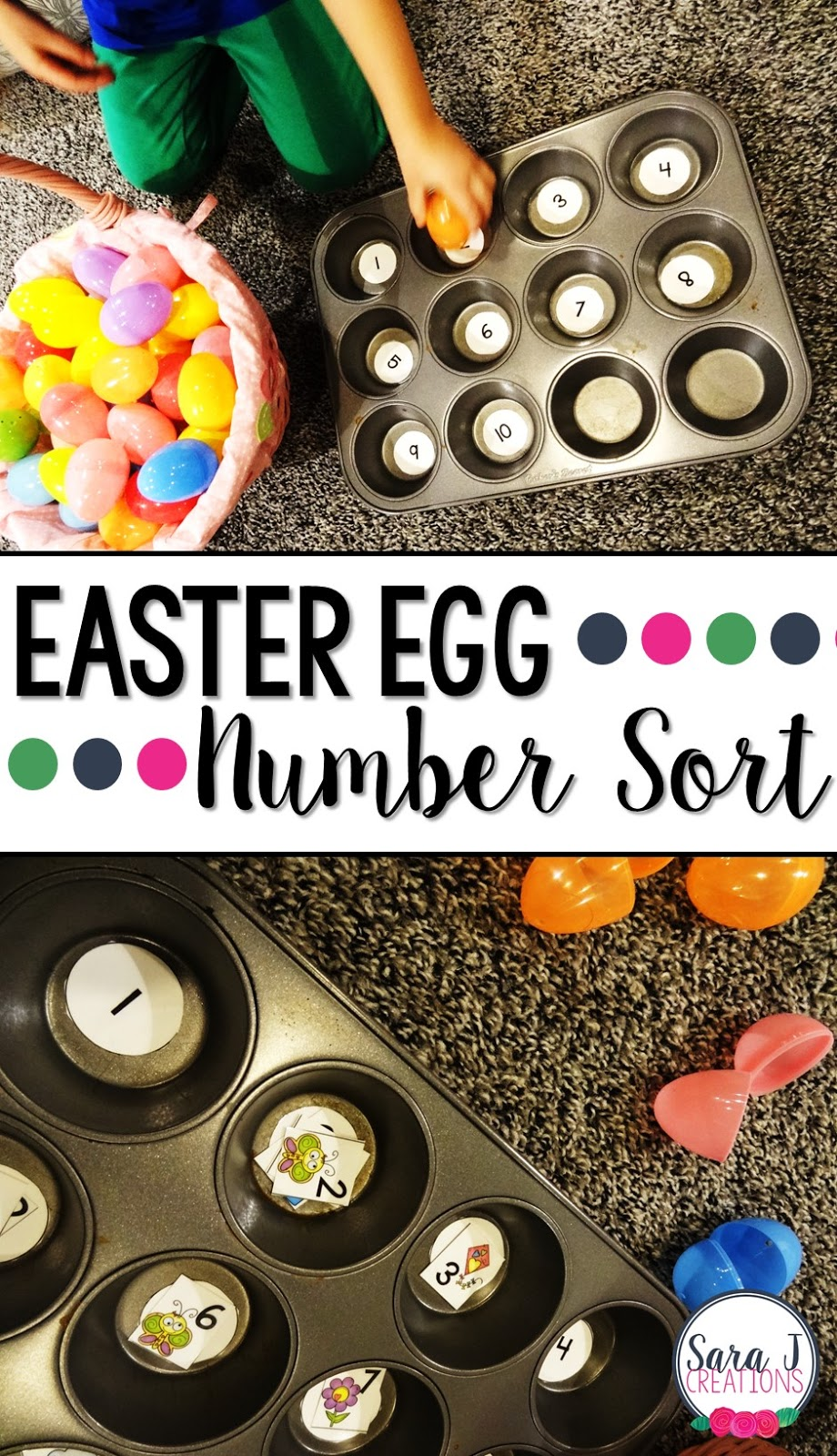 easter egg color and number sort sara j creations