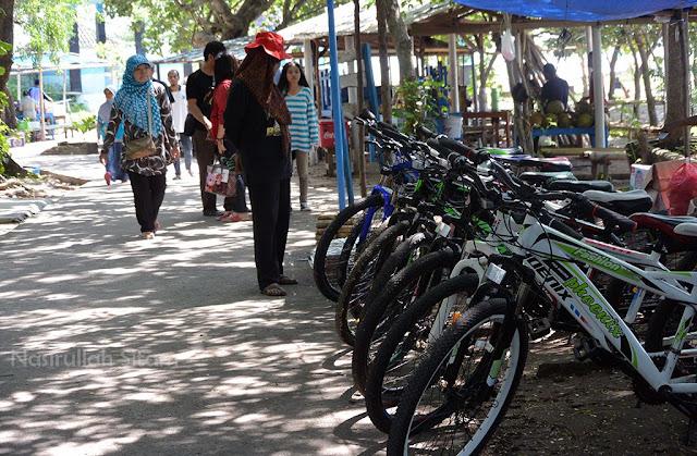 Penyewaan sepeda di pulau panjang