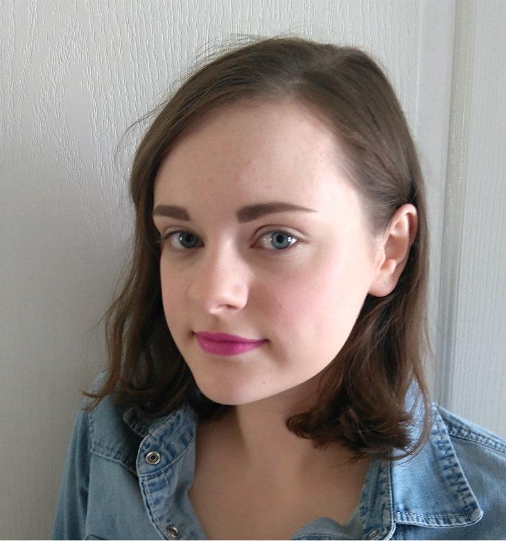 Makeup Revolution Lipstick in Crime (on lips)