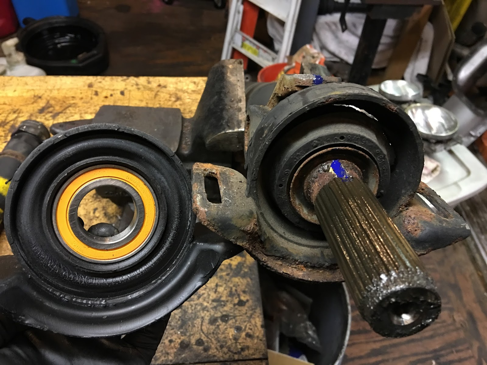 W123: Center Support Bearing Replacement ~ Artisan