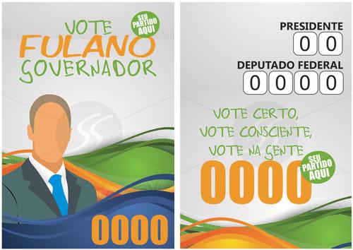 Exemplo de Santinho Político