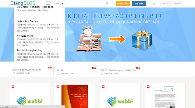 Thiết kế website chia sẻ, bán tài liệu bằng thẻ cào