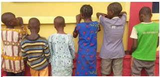 The Nigerian Police rescues six kids from suspected child trafficker