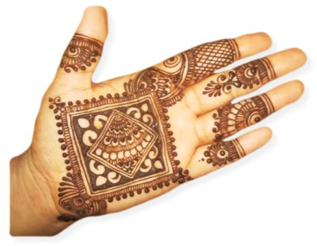 Square Mehndi Designs