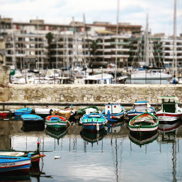 Road trip in Sicily - Boats in the Harbor at Ortigia Island