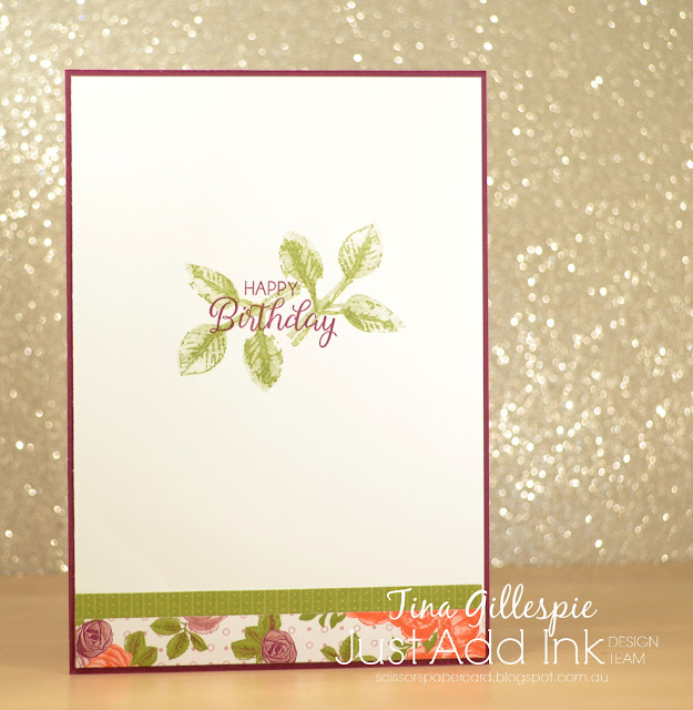 scissorspapercard, Stampin' Up!, Just Add Ink, Petal Garden DSP, Painted Harvest, Beautiful Bouquet, Garden Trellis TIEF