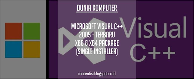 Microsoft Visual C++ 2005 - Terbaru x86 & x64 Package (Single Installer)
