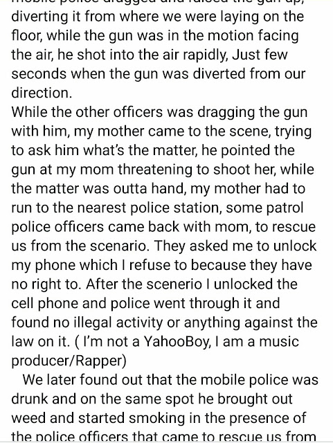 Facebook user narrates how he almost met an untimely death at the hands of a drunk SARS officer