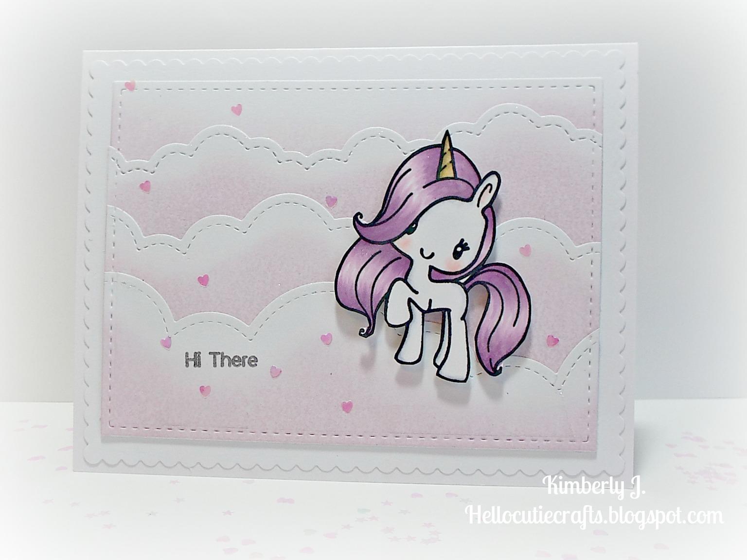 Kimberlys Crafty Spot Sparkly Pastel Unicorn Cards