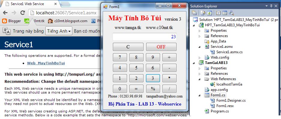 Hệ Phân Tán Web Service Máy Tính Bỏ Túi
