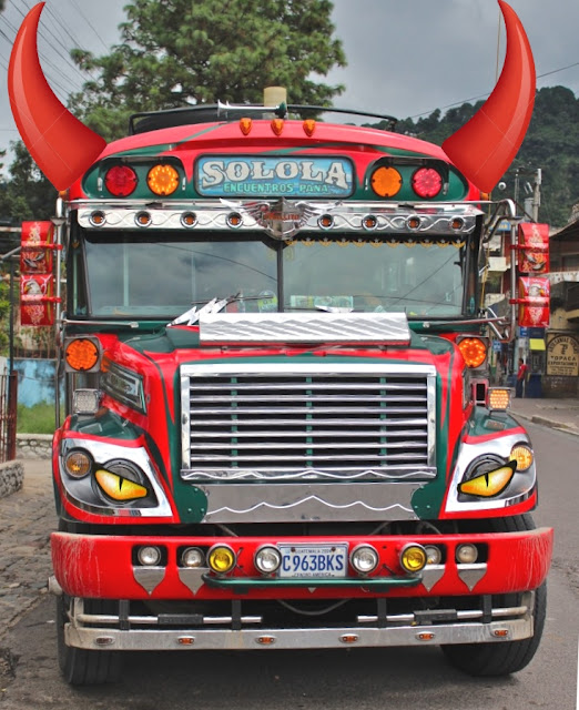 chicken bus devil Guatemala