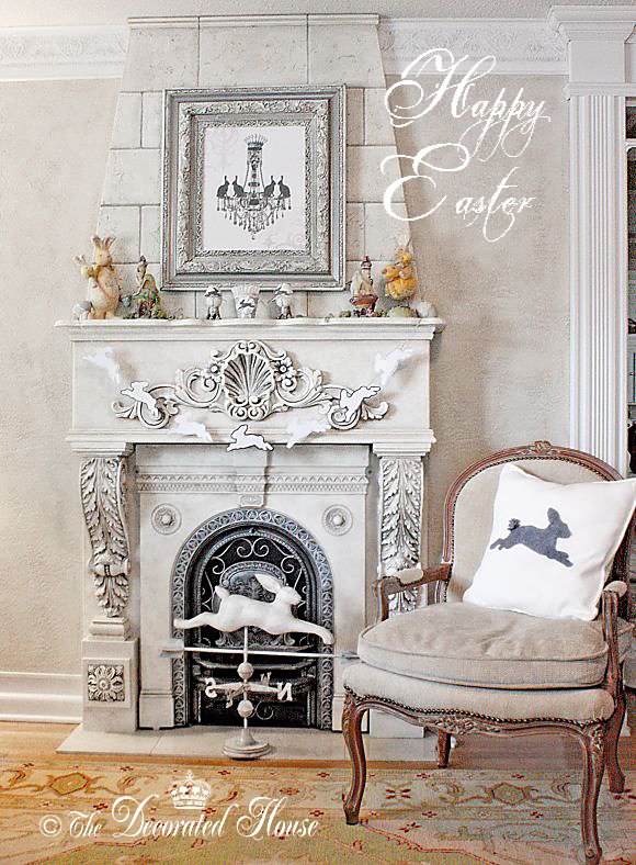 The Decorated House. 2014 Decorated Easter Mantel